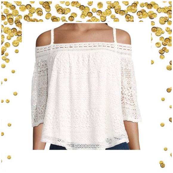 53ed8380e09 jcpenney Tops   Lace Off The Shoulder Top White Or Choose Olive ...